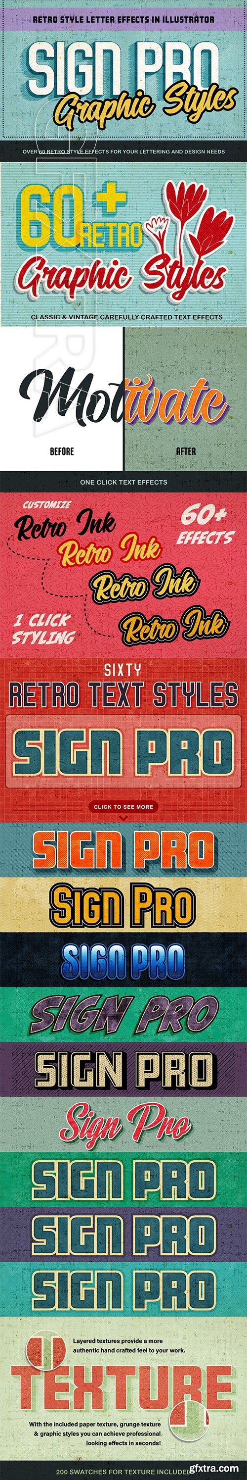 CreativeMarket - Sign Pro - Retro Vector Text Effects 3692096