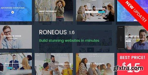 ThemeForest - Roneous v1.6.4 - Creative Multi-Purpose WordPress Theme - 16202433