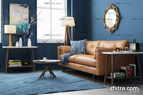 Modern Living Room 93 Interior Scene