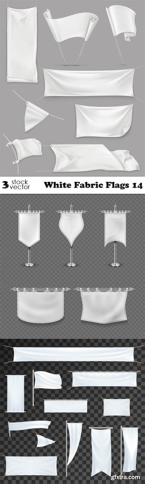 Vectors - White Fabric Flags 14