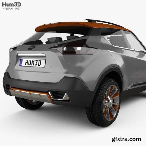 Nissan Kicks Concept 2014 3d Model