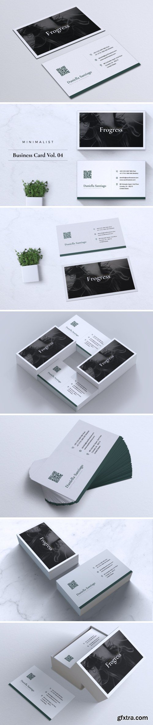 Modern Minimalist Business Card Vol. 04