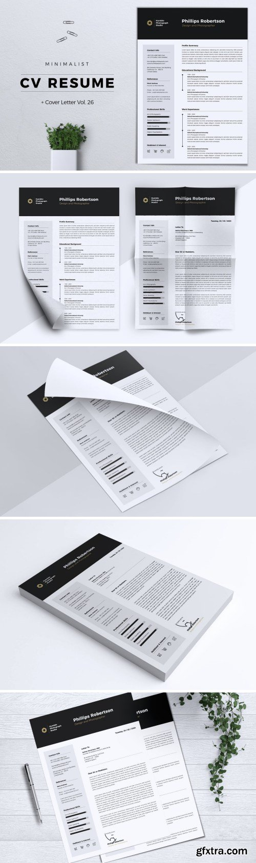 Minimalist CV Resume Vol. 26