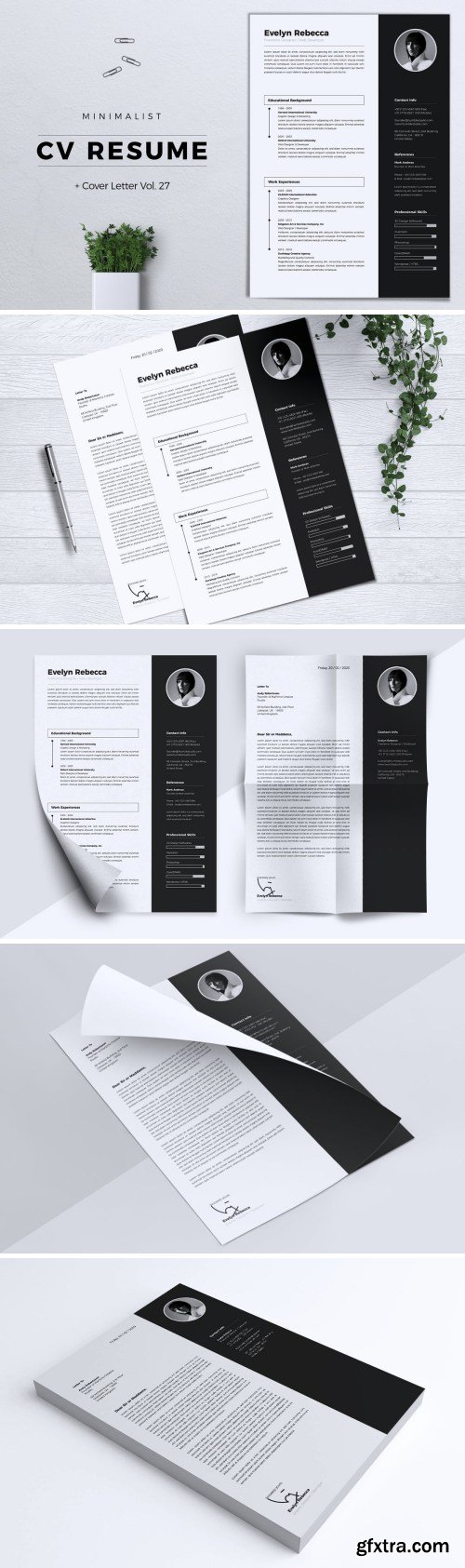 Minimalist CV Resume Vol. 27