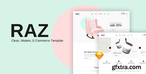 ThemeForest - RAZ v1.0 - Clean,Modern e-Commerce Templates - 23621520