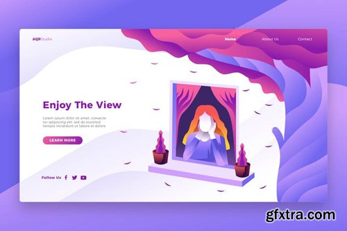 Enjoy View - Banner & Landing Page