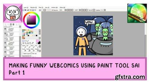 Making Funny Webcomics Using Paint Tool SAI - Part 1
