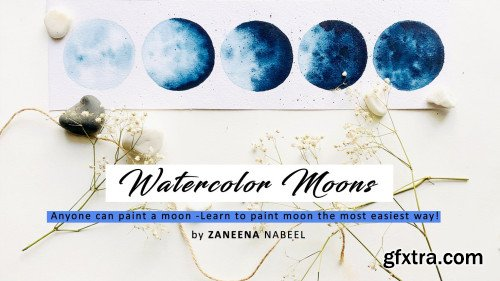 Watercolor Moons - Anyone can paint a Moon! ( Step by step)