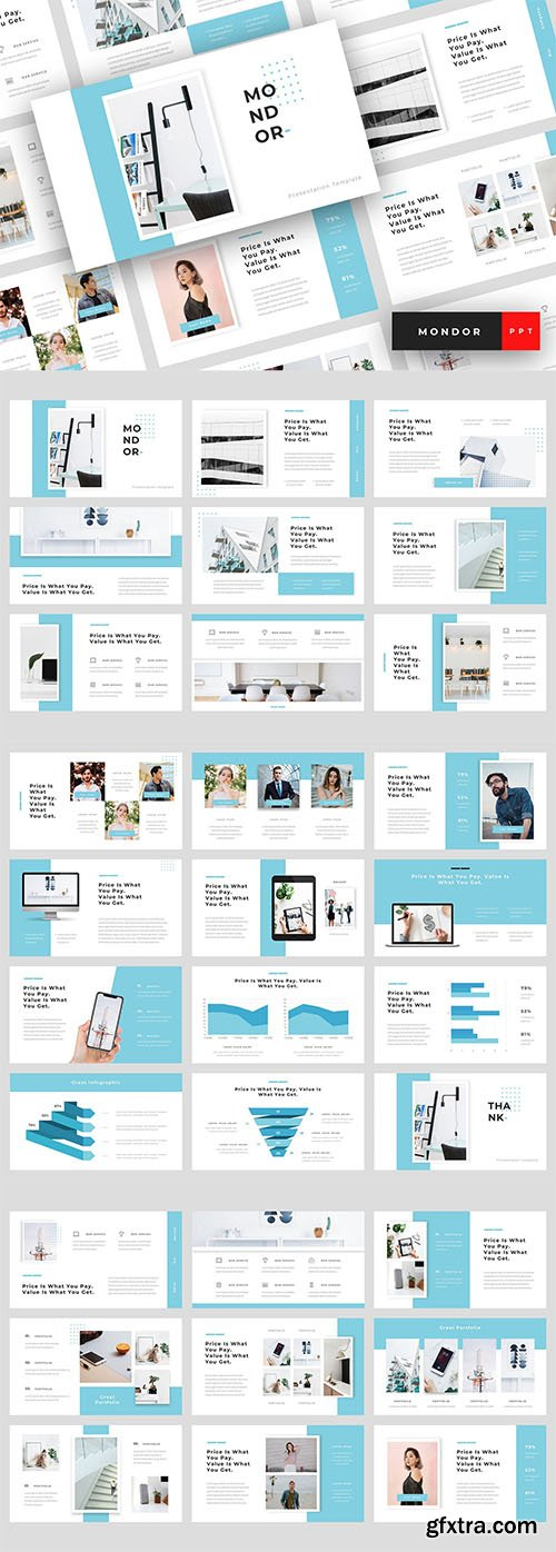 Mondor - Corporate Powerpoint, Keynote, Google Slides Templates