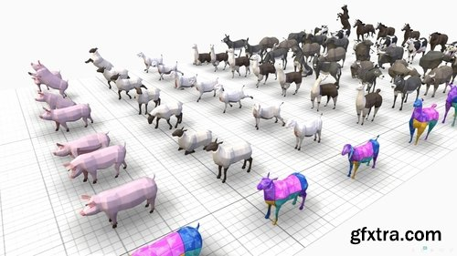 Cgtrader - Farm Animals Pack Low-poly 3D model