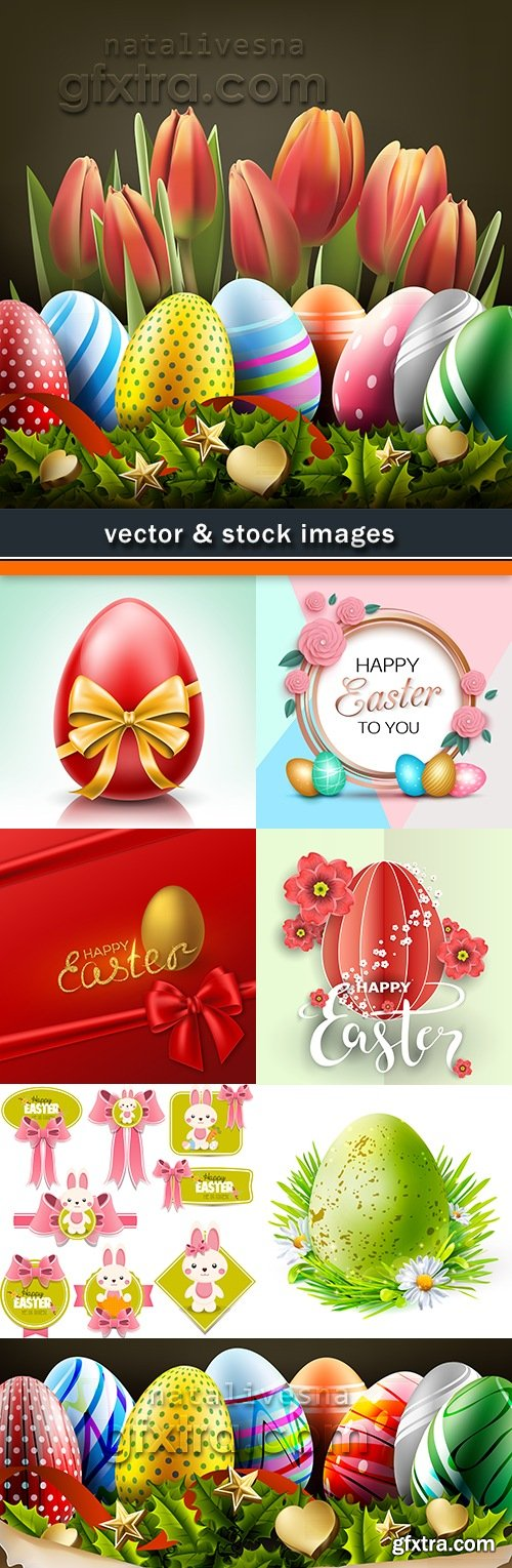 Happy Easter decorative illustration design elements 11