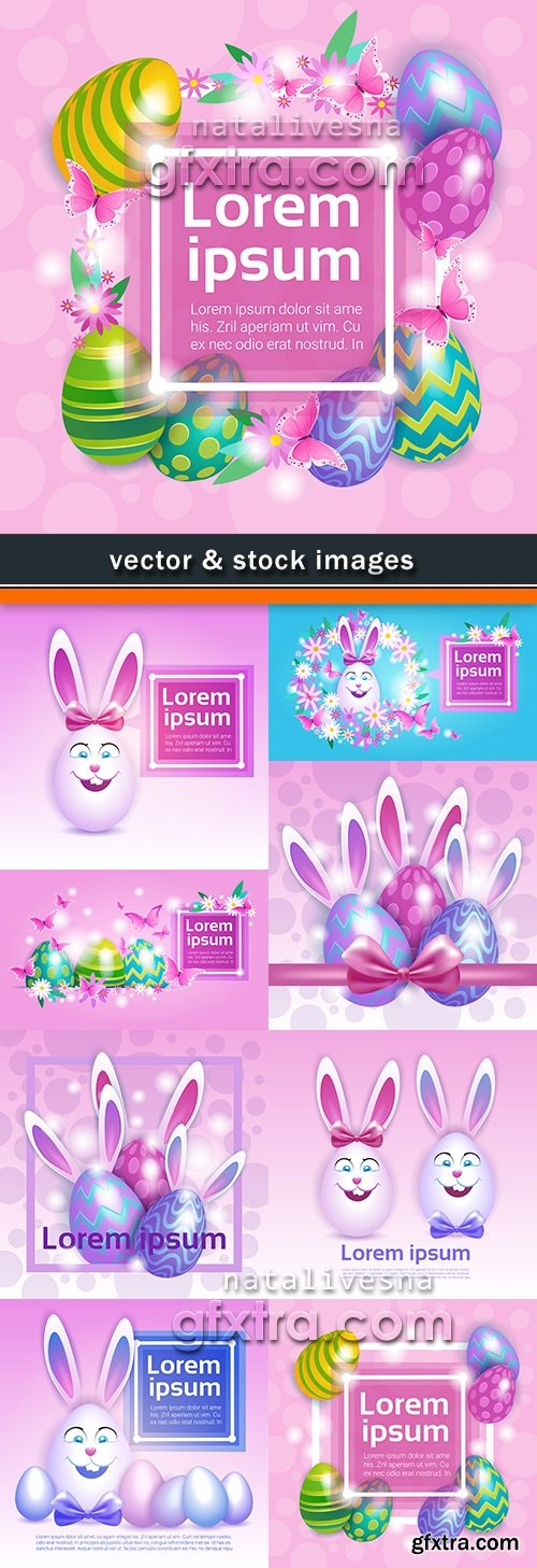 Happy Easter decorative illustration design elements 12