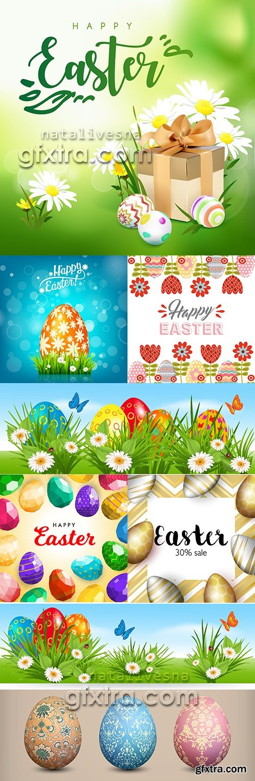 Happy Easter decorative illustration design elements 13