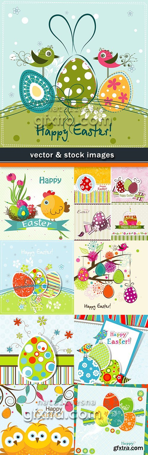 Happy Easter decorative illustration design elements 14