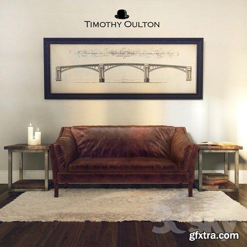 Reggio High Back Sofa, Timothy Oulton