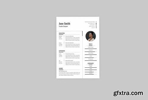 white CV Resume Designer
