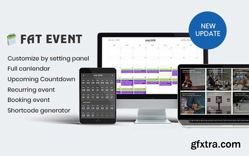 CodeCanyon - FAT Event v1.16 - WordPress Event and Calendar Booking - 22311915