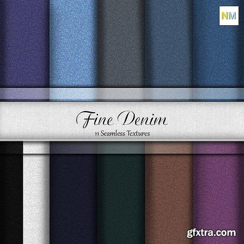 Cgtrader - Essential Fine Denim Pack Fabrics Seamless Textures Set Texture