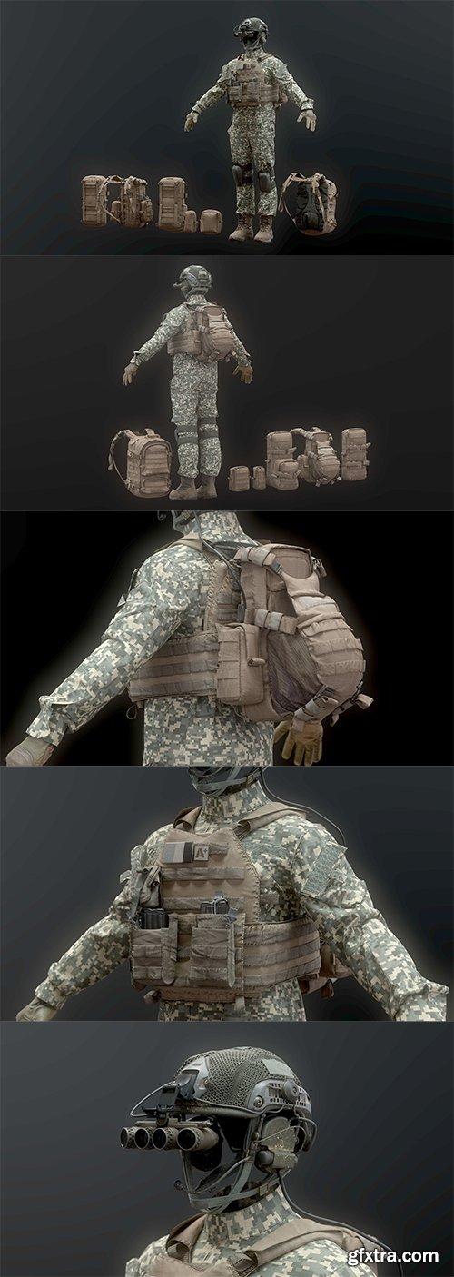 Cgtrader - SOLDIER complete Pack 3D model