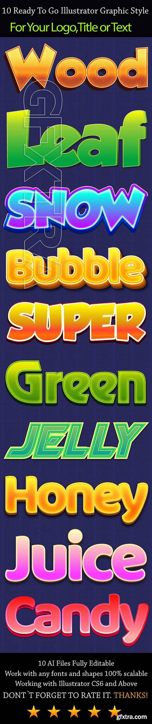 GraphicRiver - 10 Glossy Illustrator Graphic Styles 23591008