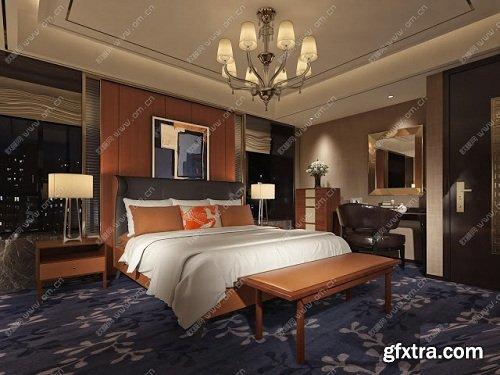 Modern Bedroom Interior Scene 83