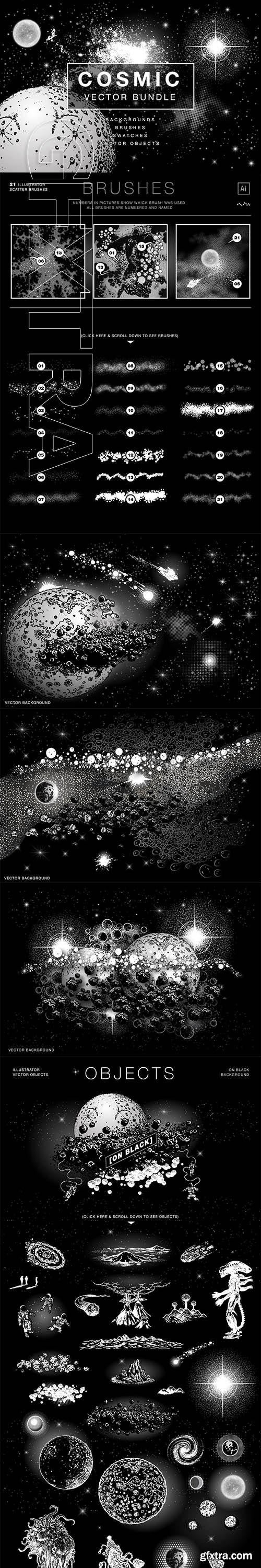 CreativeMarket - Cosmic Vector Bundle 3576086