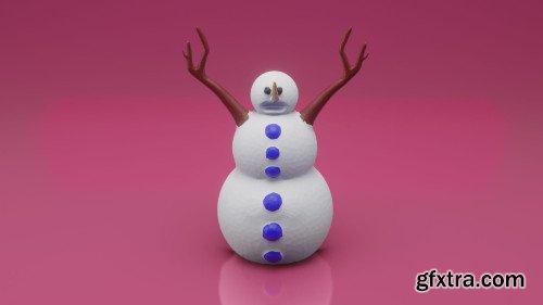 Sculpt 3D Printed Snowman - Sculpting Basics in Blender 2.8 - Design for 3D Printing - Beginners