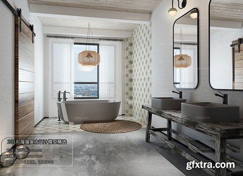 Modern Bathroom Interior Scene 07