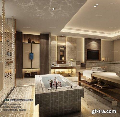 Modern Bathroom Interior Scene 08