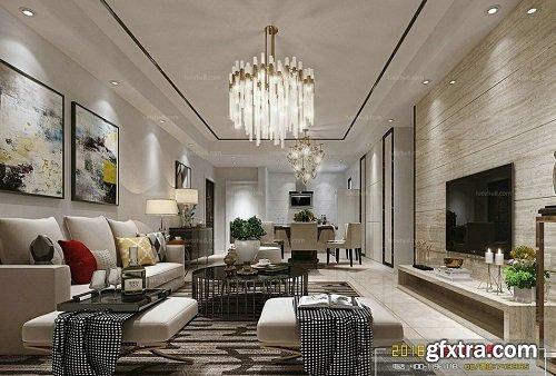 Modern Living Room 96 Interior Scene