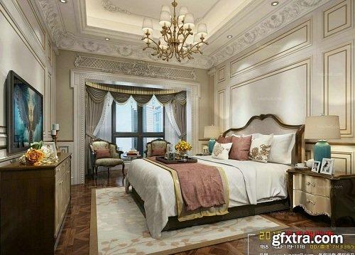 Nordic Bedroom 07 3d Interior Scene
