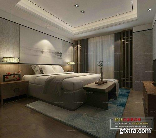 Modern Bedroom Interior Scene 84