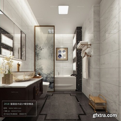 Modern Bathroom Interior Scene 10