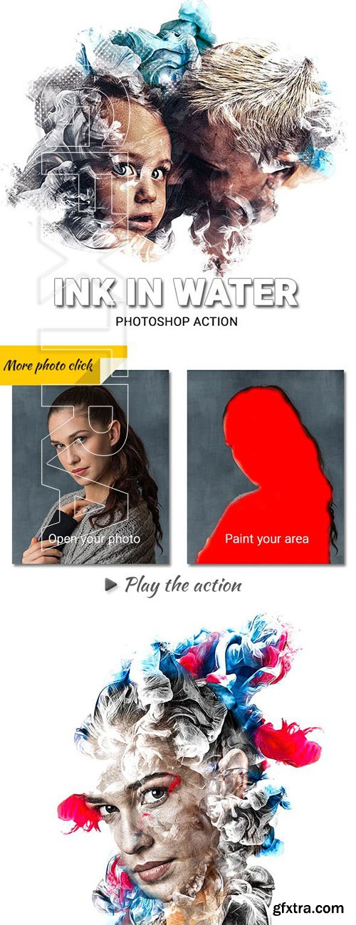 GraphicRiver - Ink in Water Photoshop Action 23621266