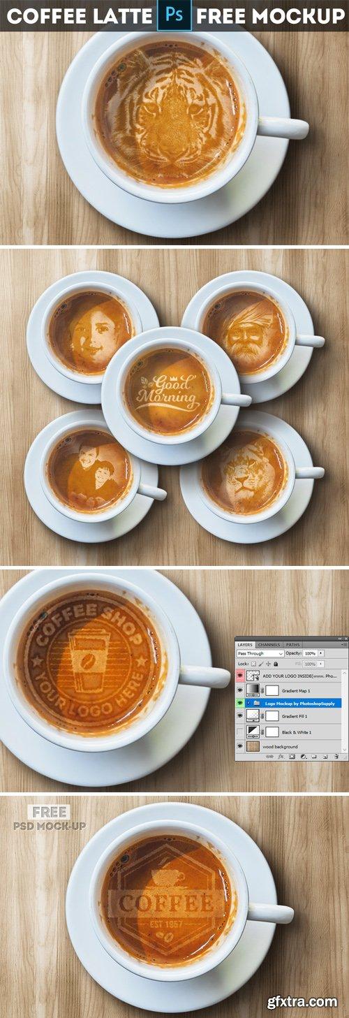 Coffee Latte Art Photoshop Mockup