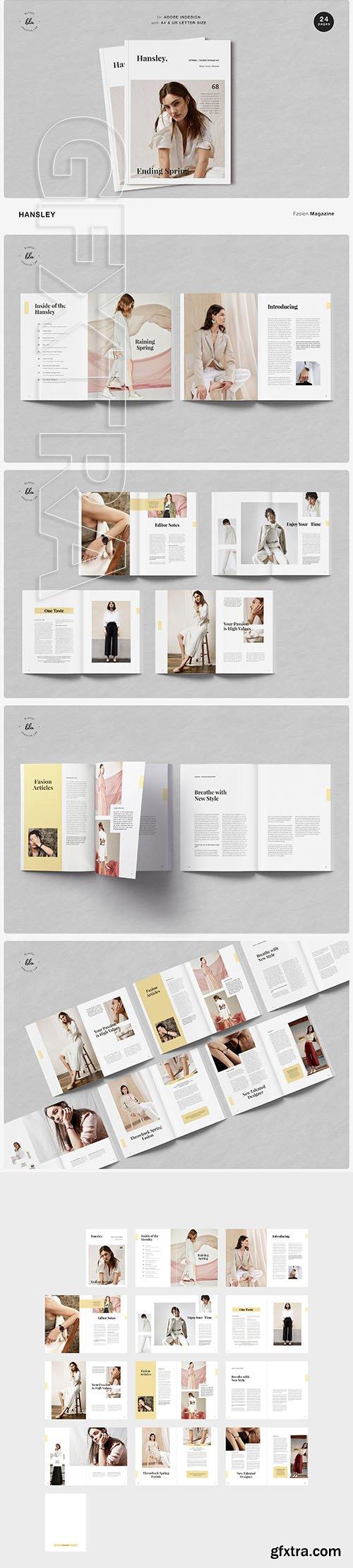 CreativeMarket - HANSLEY Fasion Magazine 3692209