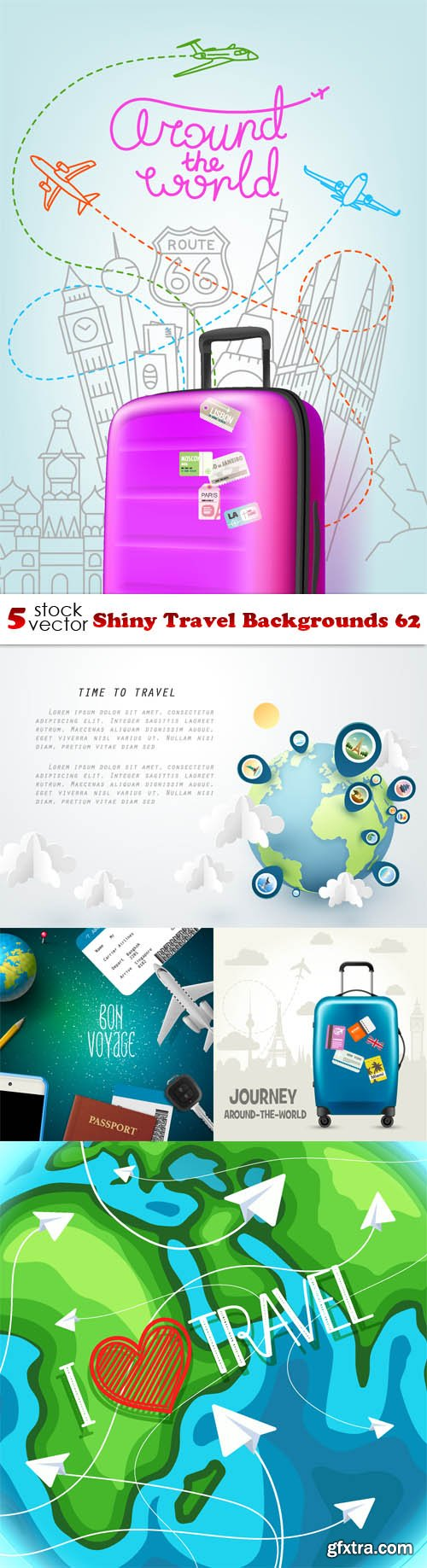 Vectors - Shiny Travel Backgrounds 62