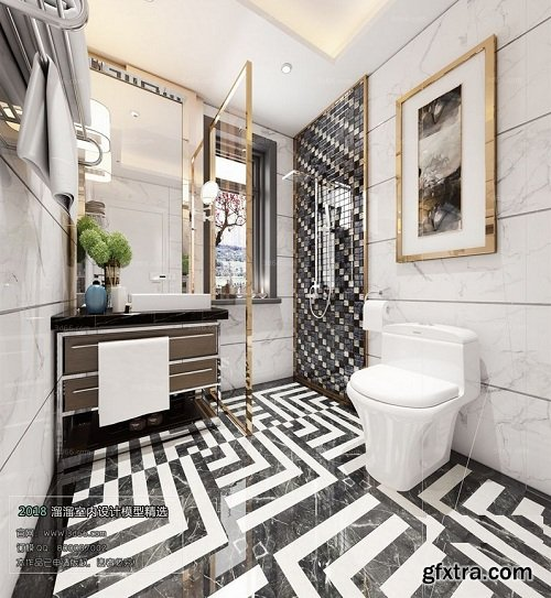 Modern Bathroom Interior Scene 11