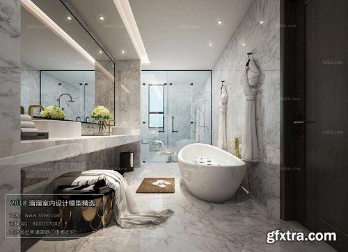 Modern Bathroom Interior Scene 12