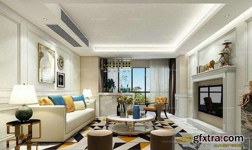 Modern Living Room 97 Interior Scene