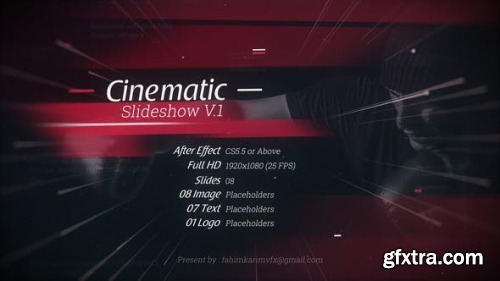 Videohive Cinematic Slideshow V.1 22539892