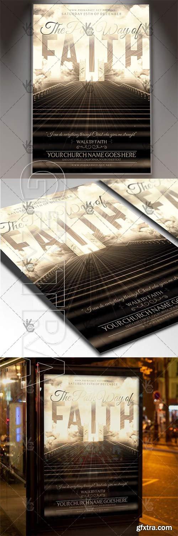 The Pathway of Faith – Church Flyer PSD Template