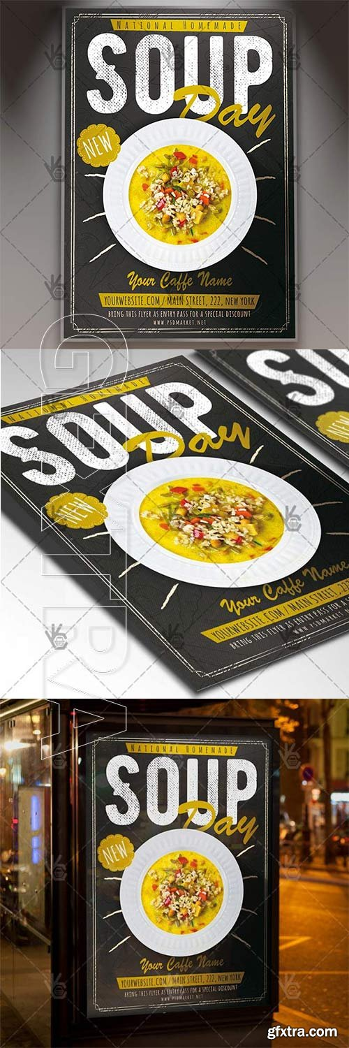 Soup Day – Food Flyer PSD Template
