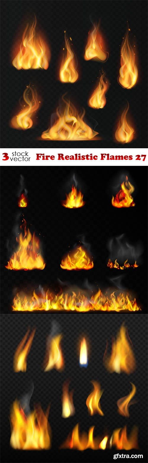 Vectors - Fire Realistic Flames 27
