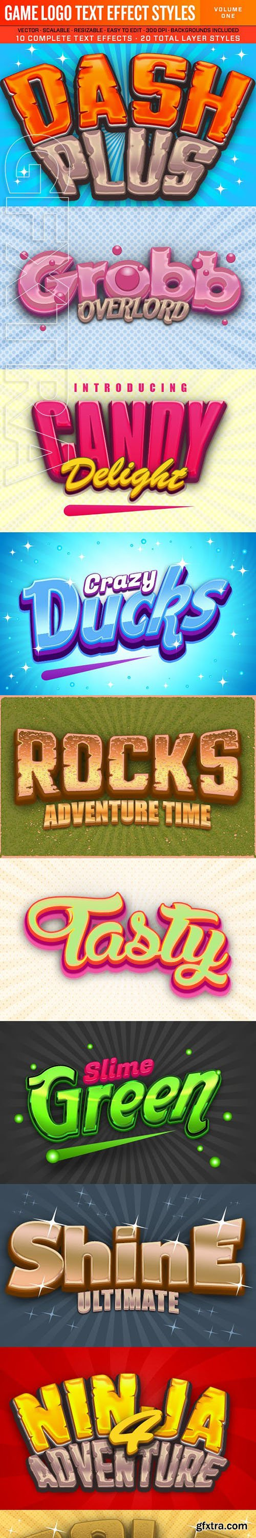 GraphicRiver - Game Logo Text Effect Styles 1 23649337