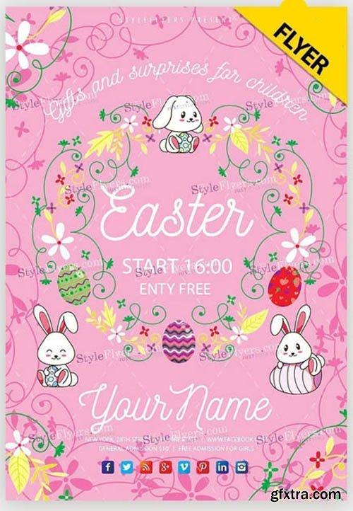 Easter Poster V20 2019 PSD Flyer Template
