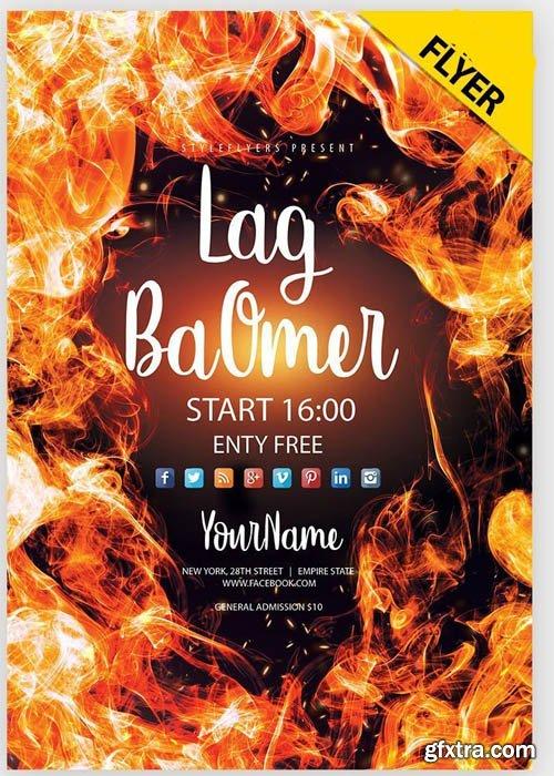 Lag BaOmer V1 2019 Flyer PSD