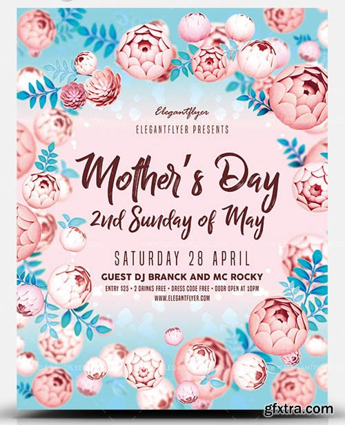Mothers Day V1 2019 2nd Sunday of May PSD Flyer Template