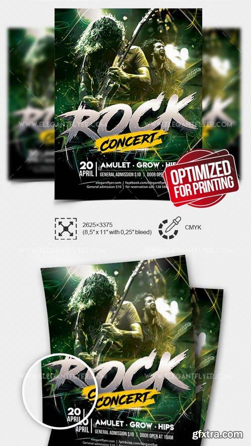 Rock Concert V7 2019 Flyer PSD Template