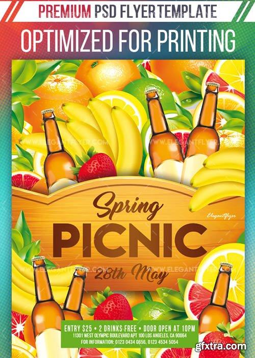 Spring Picnic V1 2019 Flyer Template in PSD